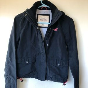 Boys Hollister black jacket, size XSmall